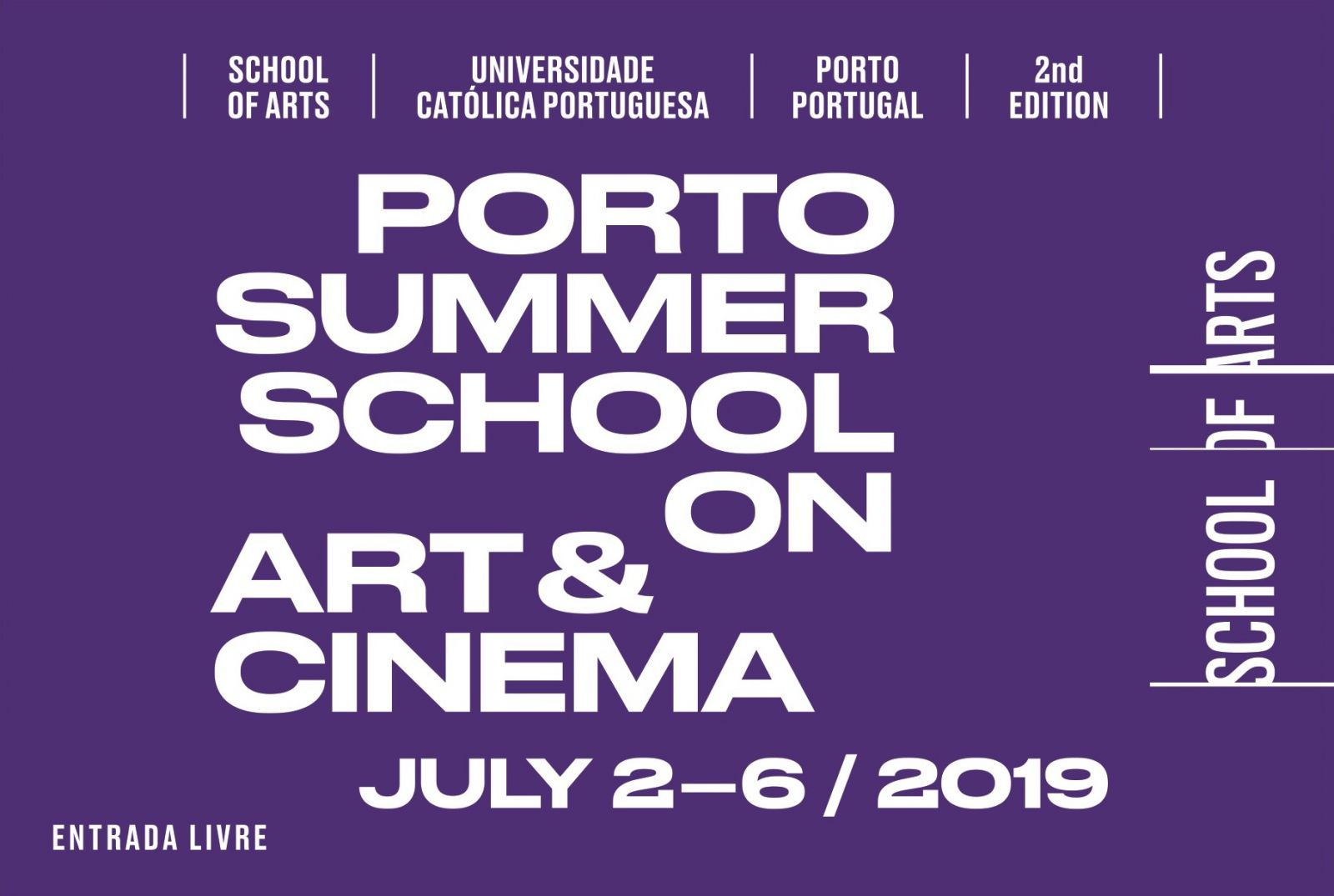 Porto Summer School on Art & Cinema 2019 · 2nd Edition